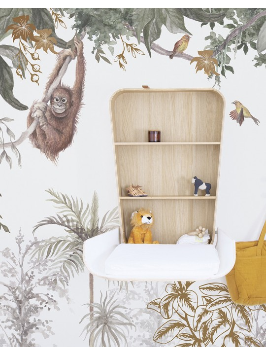 Tapetai vaiko kambariui. Beždžionėlės