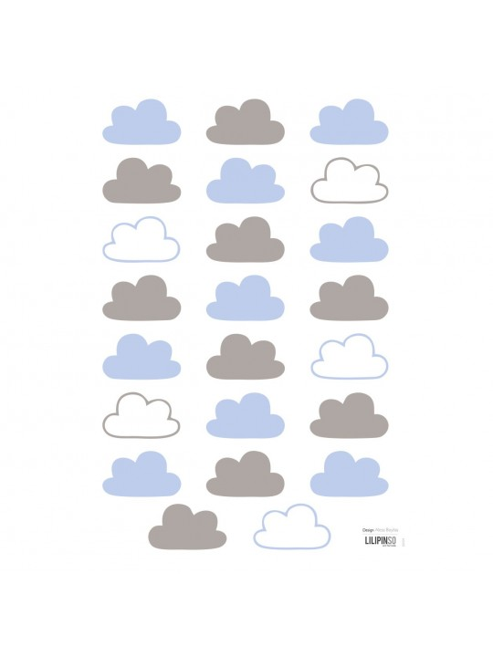 Sienų lipdukai. Melsvi debesėliai