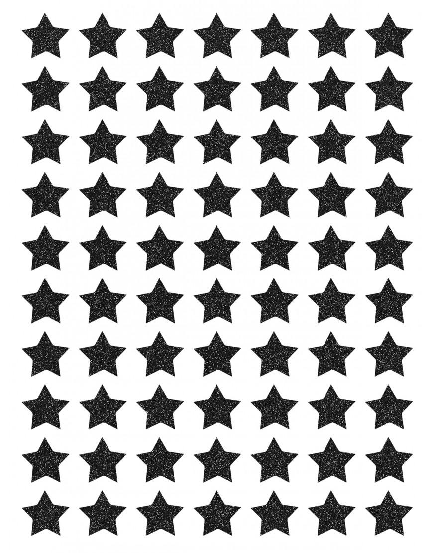 Blizgančios juodos žvaigždutės. Interjero dekoracijos