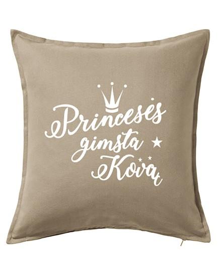 Princesės gimsta kovą. Dekoratyvinė pagalvėlė
