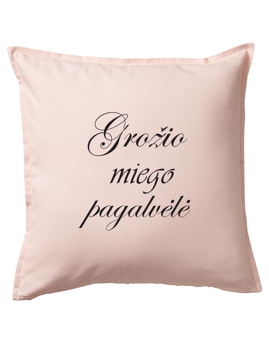 Grožio miego pagalvė. Dekoratyvinė pagalvėlė