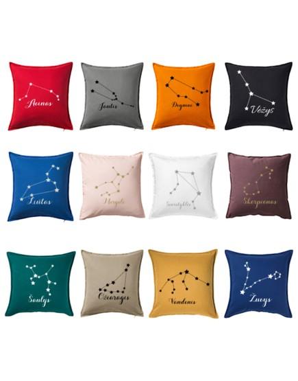 Pagalvė su zodiako ženklu. Dekoratyvinė pagalvėlė