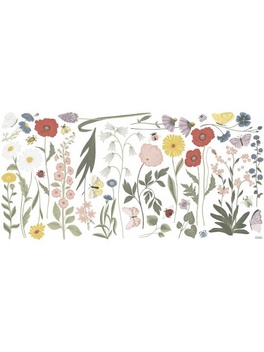 Lipdukai sienoms. Laukų gėlės