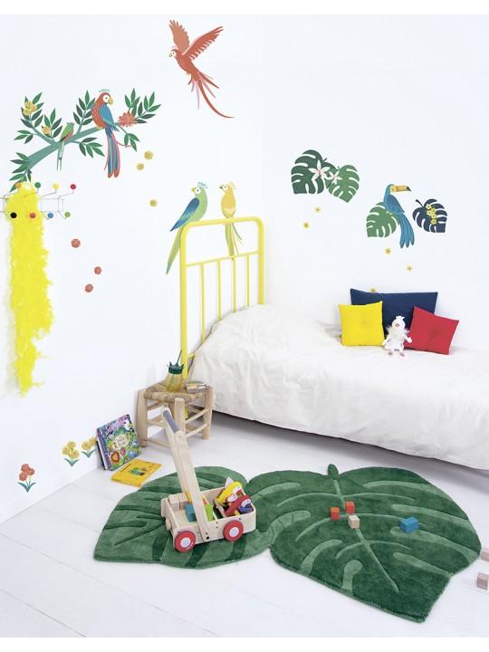 Kilimas vaiko kambariui. Atogražų lapai