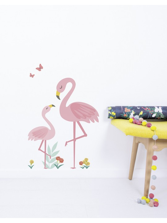 Lipdukai interjerui. Flamingai