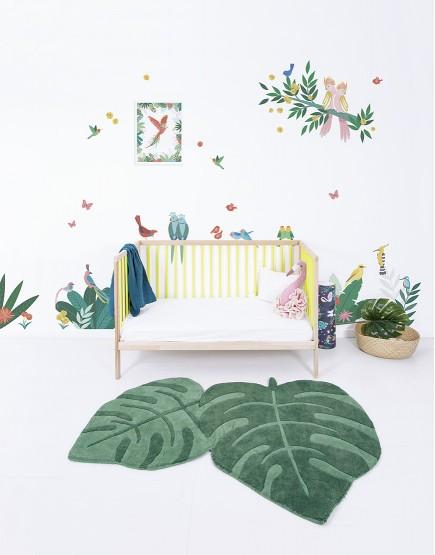 Lipdukai vaiko kambariui. Paukščiai ir augalai