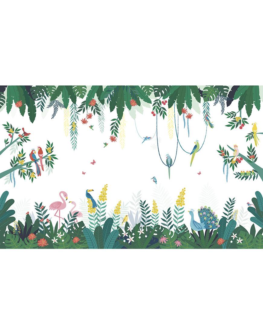 Sienų dekoro tapetai. Džiunglės