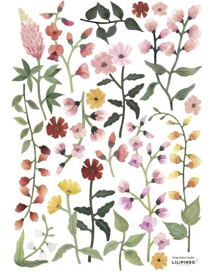 Dekoraciniai lipdukai. Gražios gėlytės