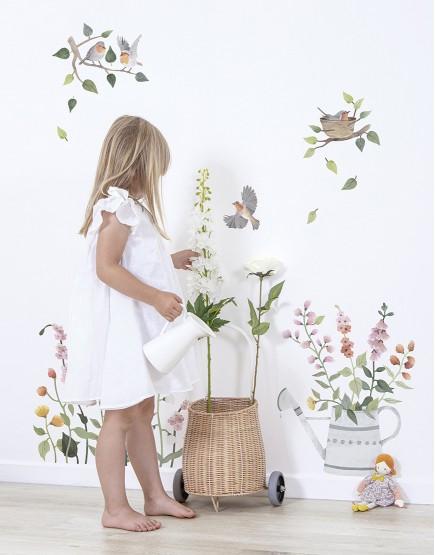 Interjero dekoracija. Laukinės gėlės