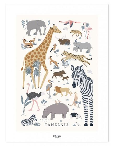 Tanzanija. Vaikiškas plakatas