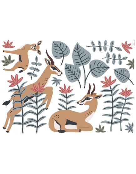 Tanzanijos gazelės . Sienų lipdukai