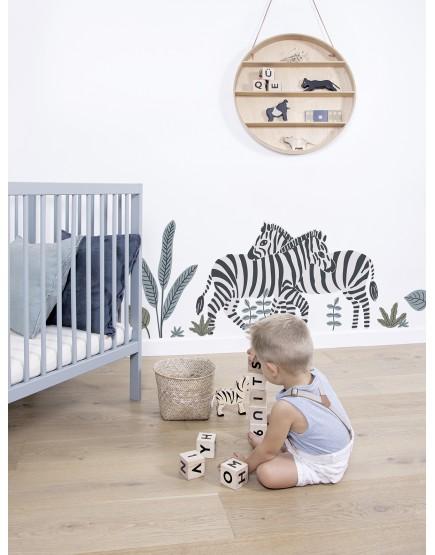 Zebrai. Dekoraciniai sienų lipdukai