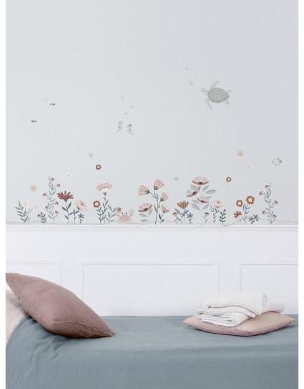 Gėlės vandenyne. Lipdukai mergaitės kambariui