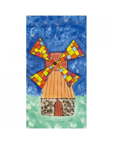 Inos (15 m.) pieštas atvirukas su voku. Pinigai skiriami paramai