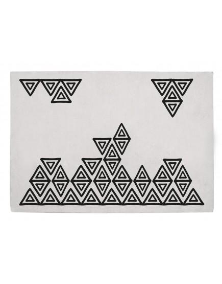 Medvilninis kilimas. Geometriniai raštai