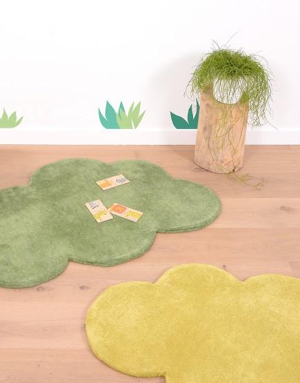 Vaikiškas kilimas. Tamsiai žalias debesėlis