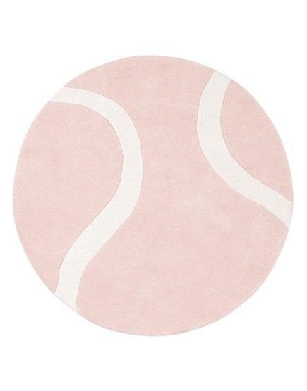 Teniso kamuolys. Apvalus kilimėlis mergaitei