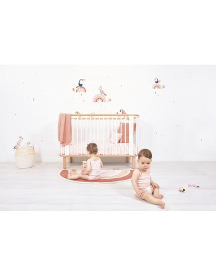 Kilimas vaiko kambariui. Rožinė vaivorykštė