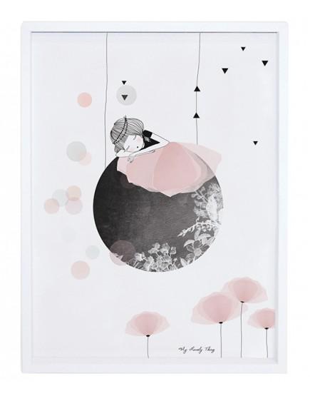 Mergaitė ir mėnulis. Paveikslas