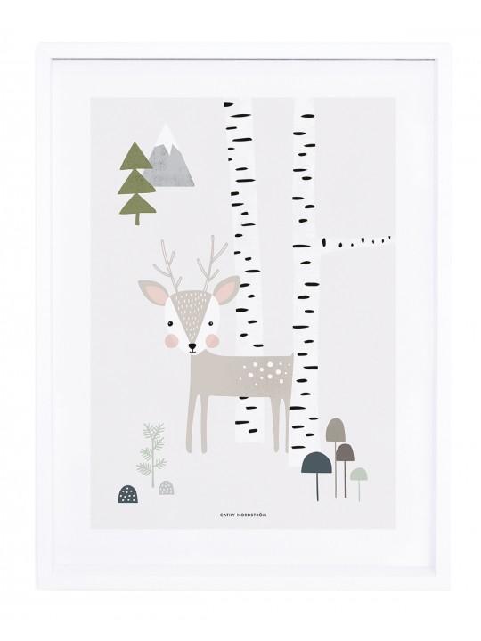 Elnias miške. Paveikslas vaiko kambariui