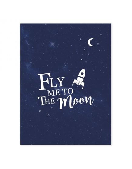 Raketa ir mėnulis. Paveikslas
