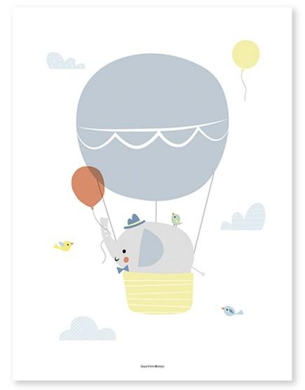 Drambliukas oro balione. Paveikslas