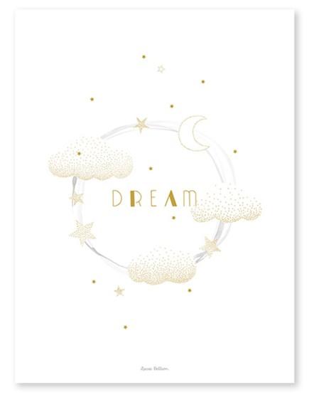 Vaikiškas plakatas. Debesėliai ir sapnai