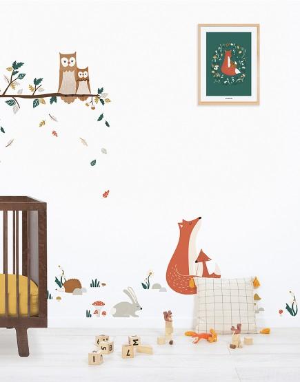 Paveikslas vaiko kambariui. Lapė su lapiuku