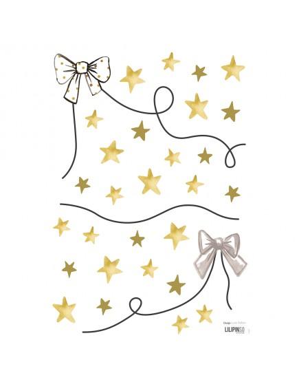 Žvaigždės ir kaspinėliai. Interjero lipdukai