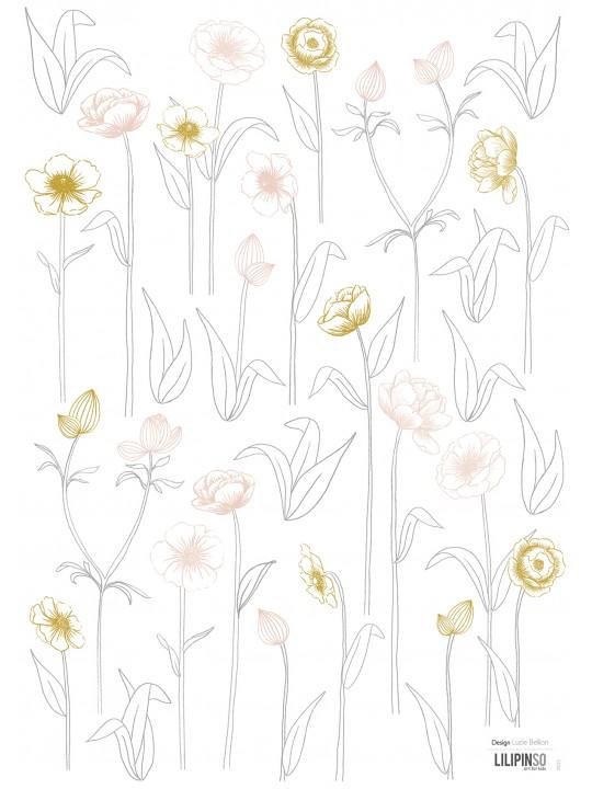 Dekoraciniai lipdukai. Gėlės