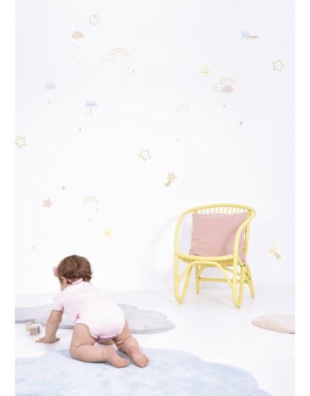 Sienų lipdukai A3 (29,7 X 42 cm) - CLOUDS, STARS, RAINBOWS