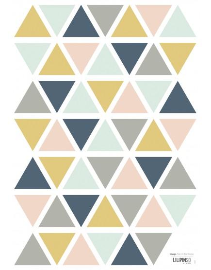 Interjero lipdukai. trikampiai