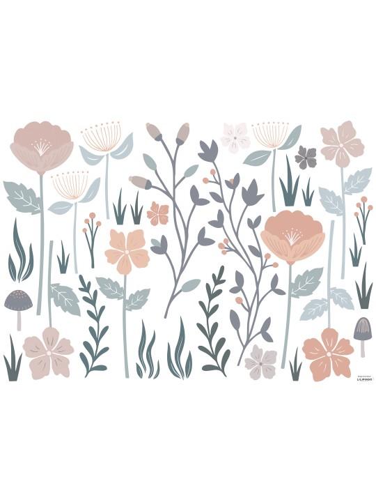 Gėlės. Vaikiškas sienų lipdukas