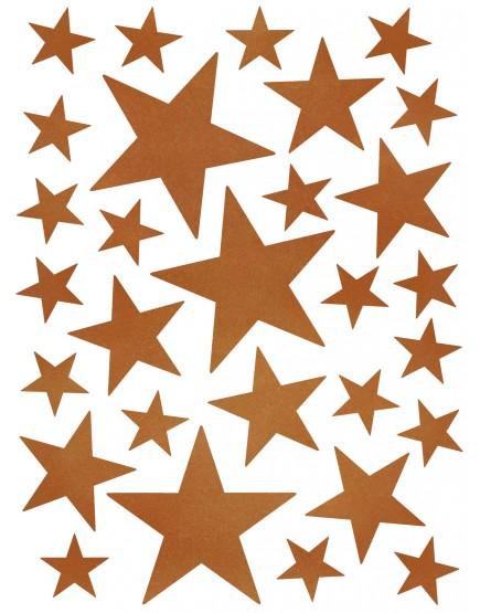 Interjero lipdukai. Žvaigždės vario spalvos