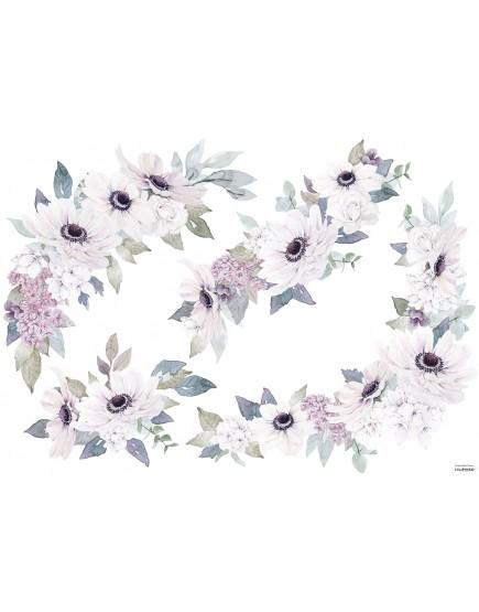 Dekoraciniai sienų lipdukai. Gėlių puokštės