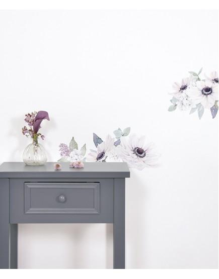 Gėlių puokštės. Lipdukai mergaitės kambariui