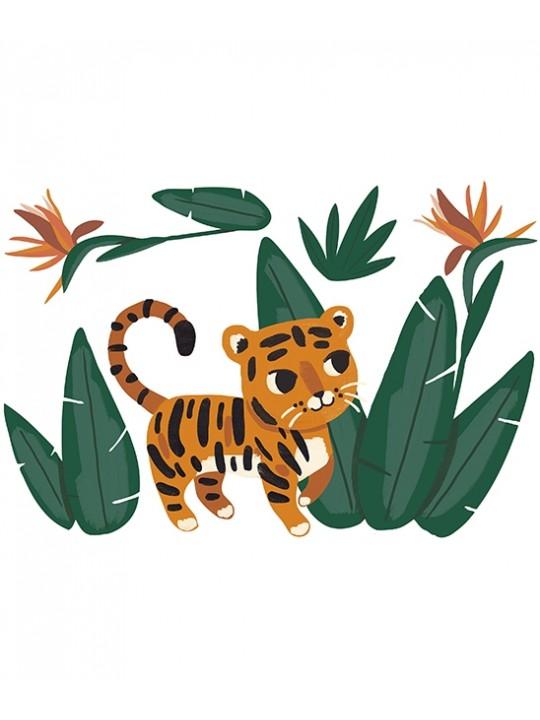 Lipdukas interjerui. Džiunglių tigras