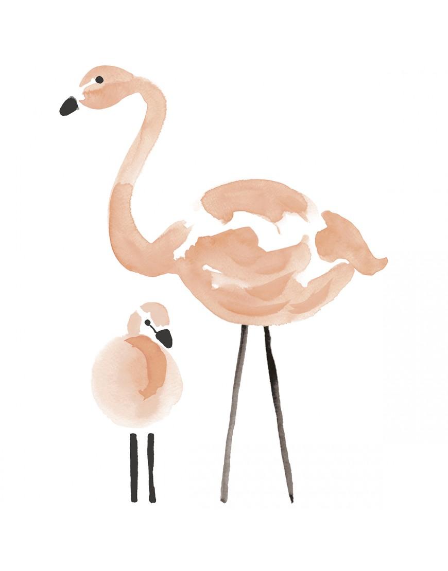 Rausvi flamingai. Interjero lipdukai