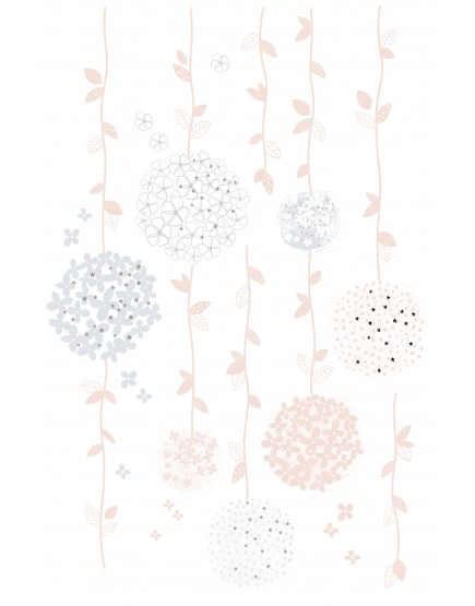 Gėlių girliandos. Lipdukai sienoms