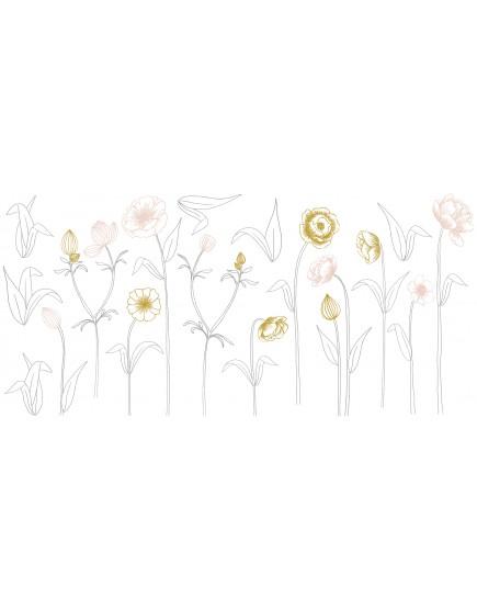 Sienų lipdukai. Didelės gėlės