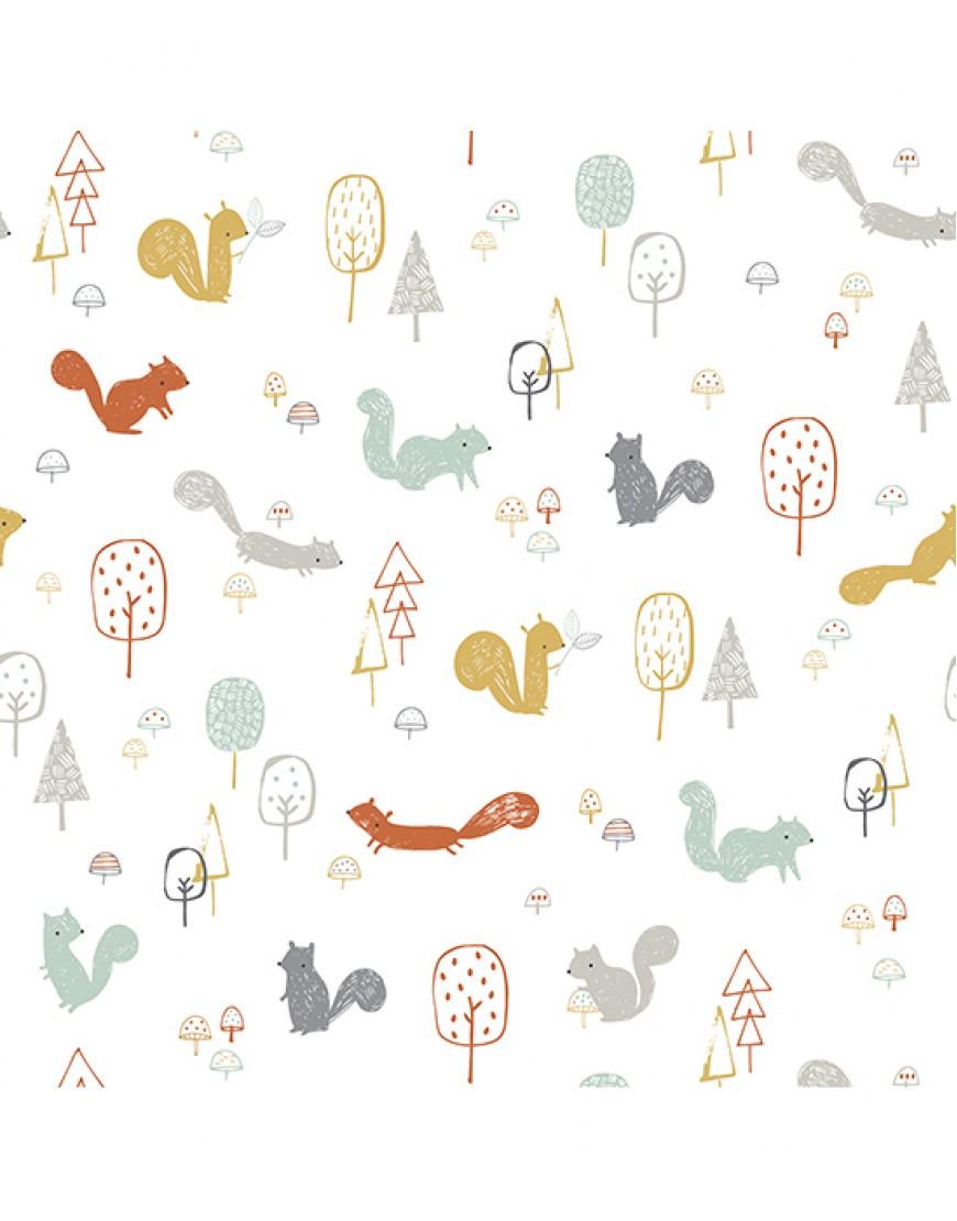 Vaikiški tapetai. Voverės