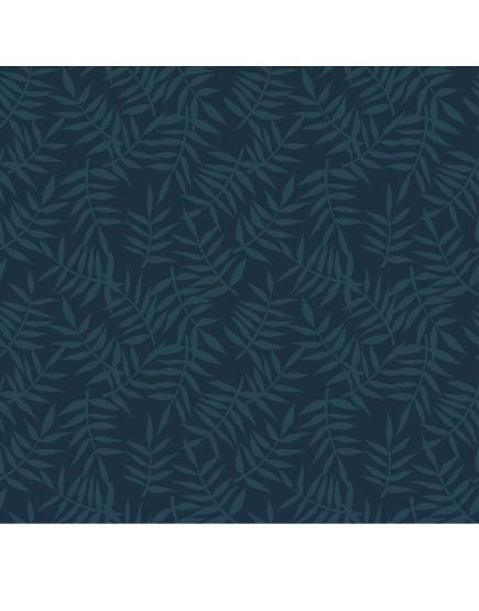 Tapetai. Tamsiai mėlyni tropiniai lapai