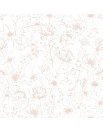 Tapetai. Rožinės gėlės