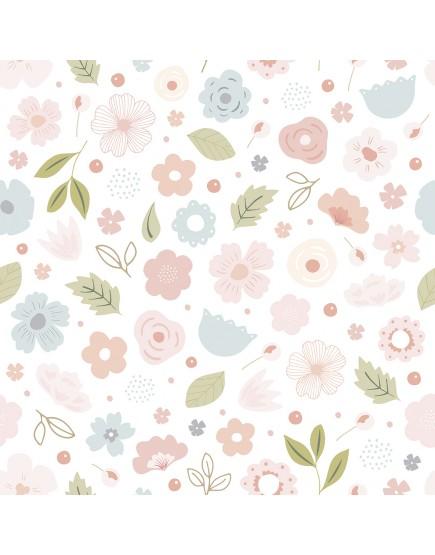 Tapetai. Rausvos gėlės