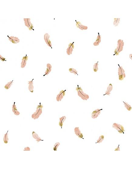 Flamingo plunksnos. Tapetai