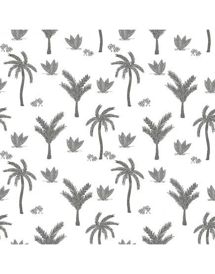 Tapetai. Juodai baltos palmės