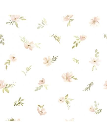 Tapetai. Pastelinės spalvos gėlės