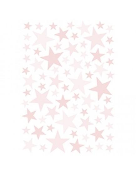 Rožinės žvaigždutės. Interjero lipdukai
