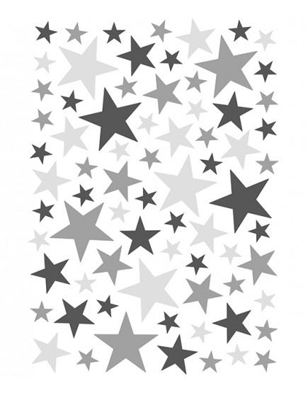 Interjero lipdukai. Žvaigždutės pilkos spalvos
