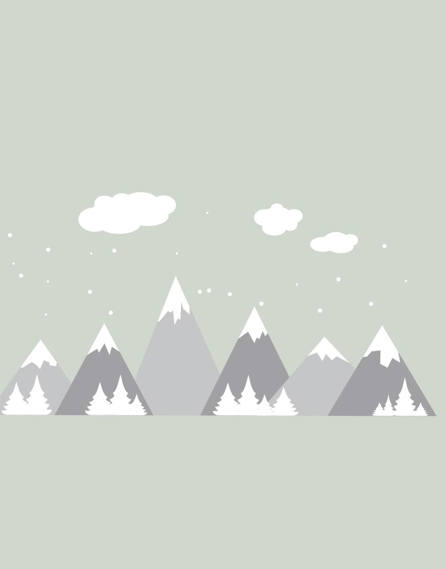 Dideli kalnai. Interjero lipdukas